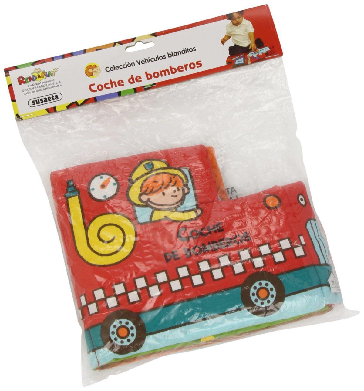 Coche de bomberos (Vehículos blanditos) (Español) Libro de tela