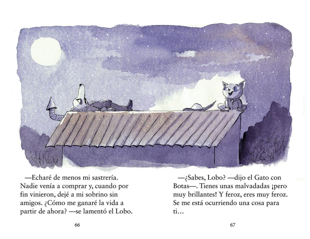 El lobo con botas (Primeros Lectores (1-5 Años) - Álbum Ilustrado) (Español) Libro de cartón